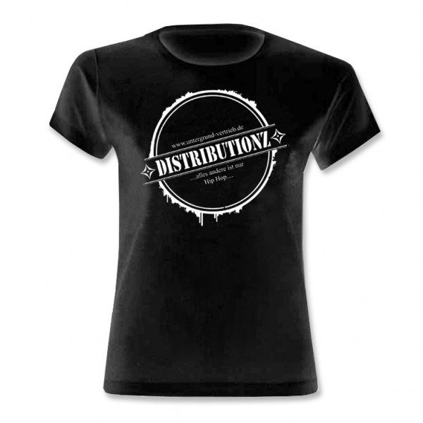 Distributionz - Logo Stempel Girly Shirt