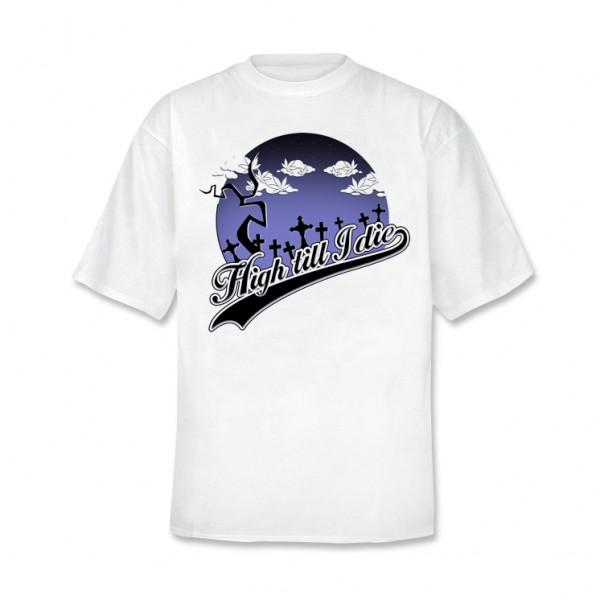 Ganja Love - High till I die T-Shirt [weiss]