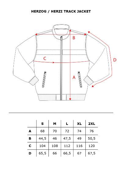 Herzi Jacket Measurements
