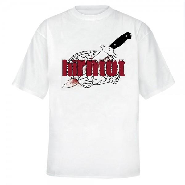 Hirntot Records - Messer T-Shirt [weiss]